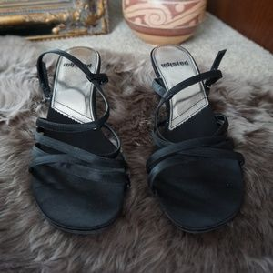 90s Unlisted Minimal Strappy Short Heel Sandals 8